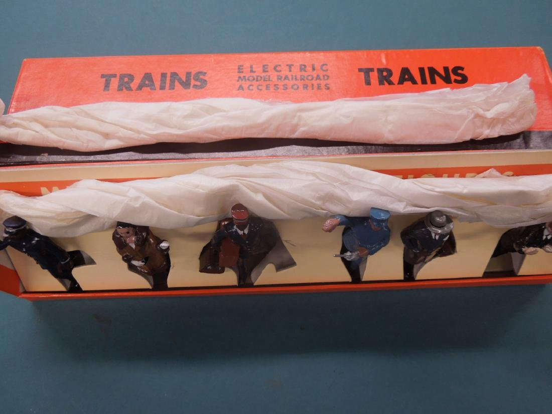 6 Metal Miniature R.R. Figures in Box - 5