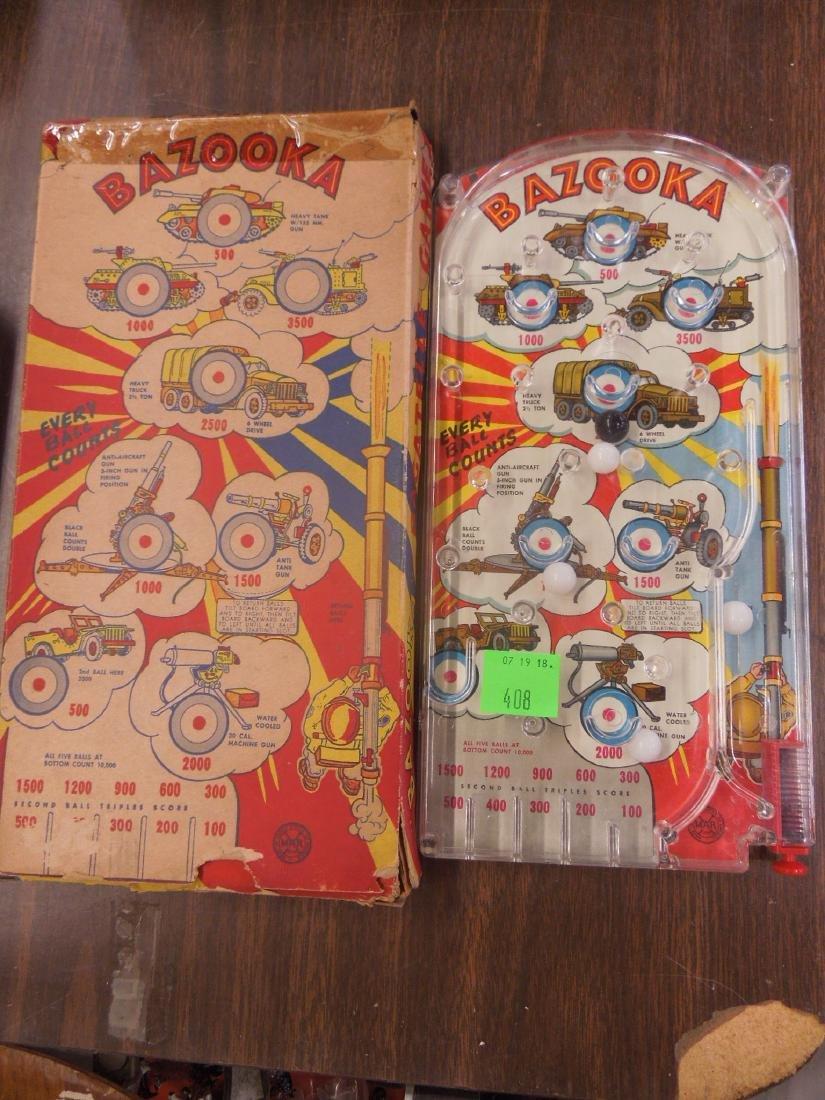 Marx Bazooka Bagatelle Pinball Game