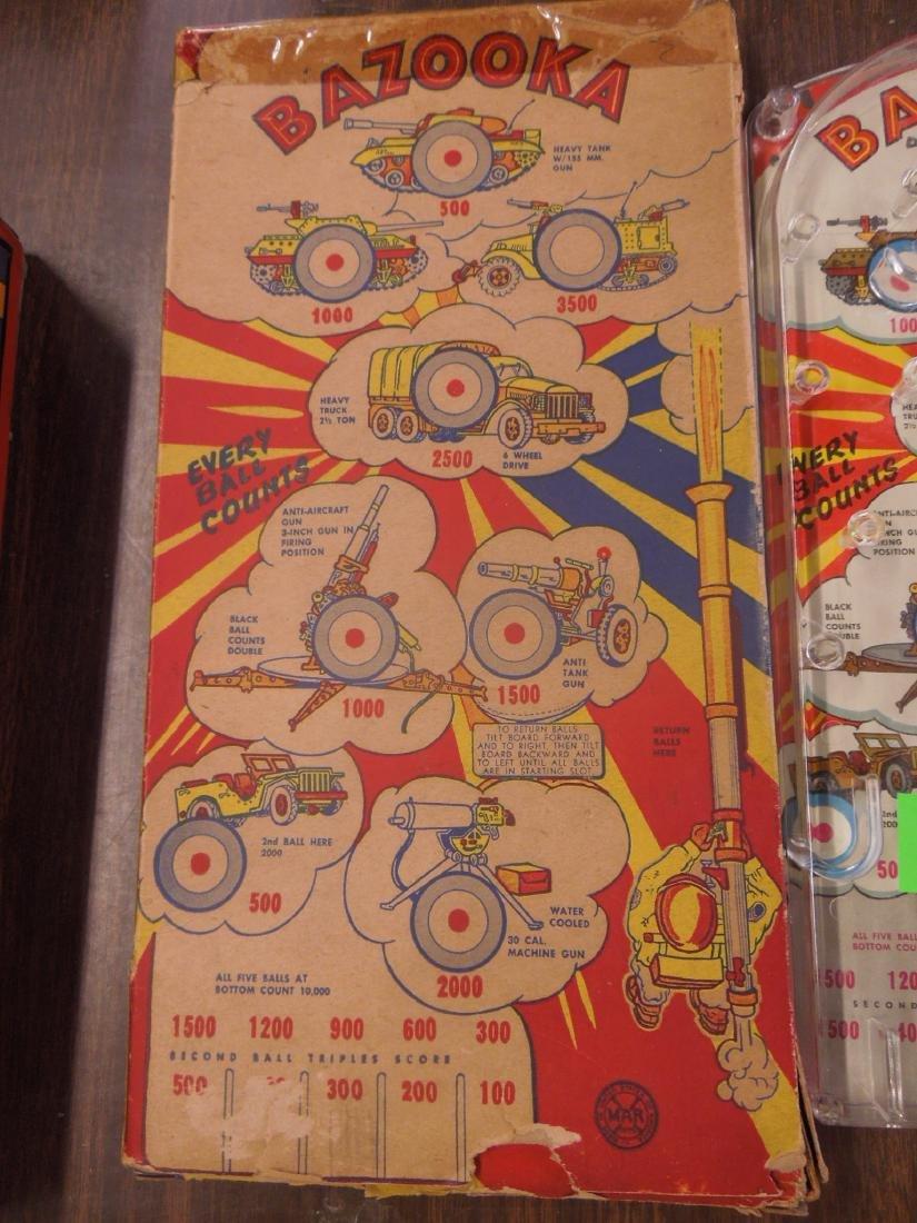 Marx Bazooka Bagatelle Pinball Game - 2