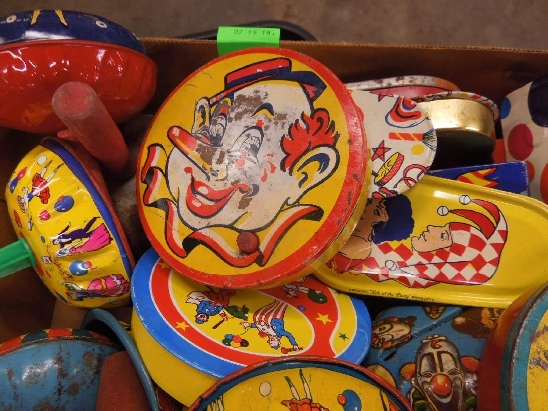 Large Lot Vintage Tin Litho Noise Makers - 3