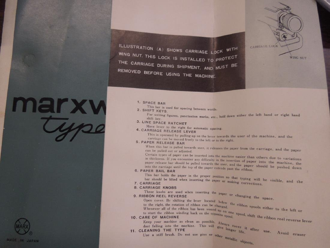 Vintage Marx Writer Typewriter - 4