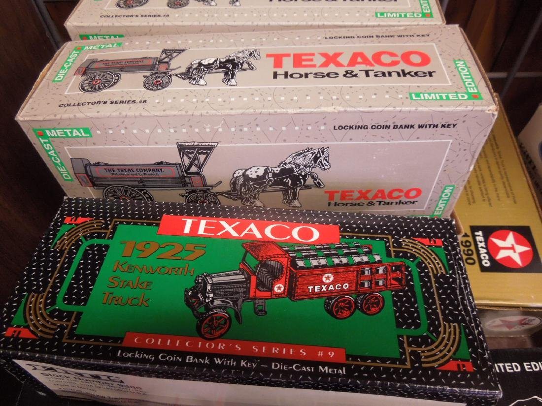 14 Ertl Collector Series Texaco Banks - 4