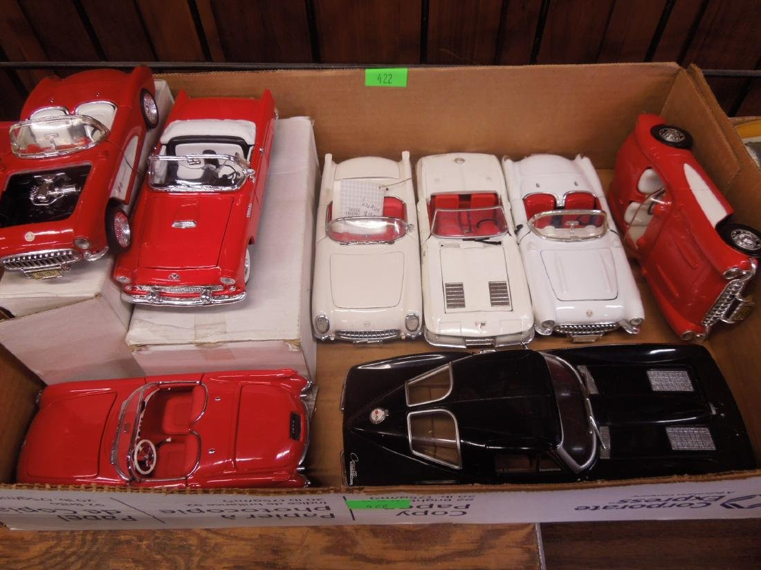 7 Die Cast Metal Scale Automobiles