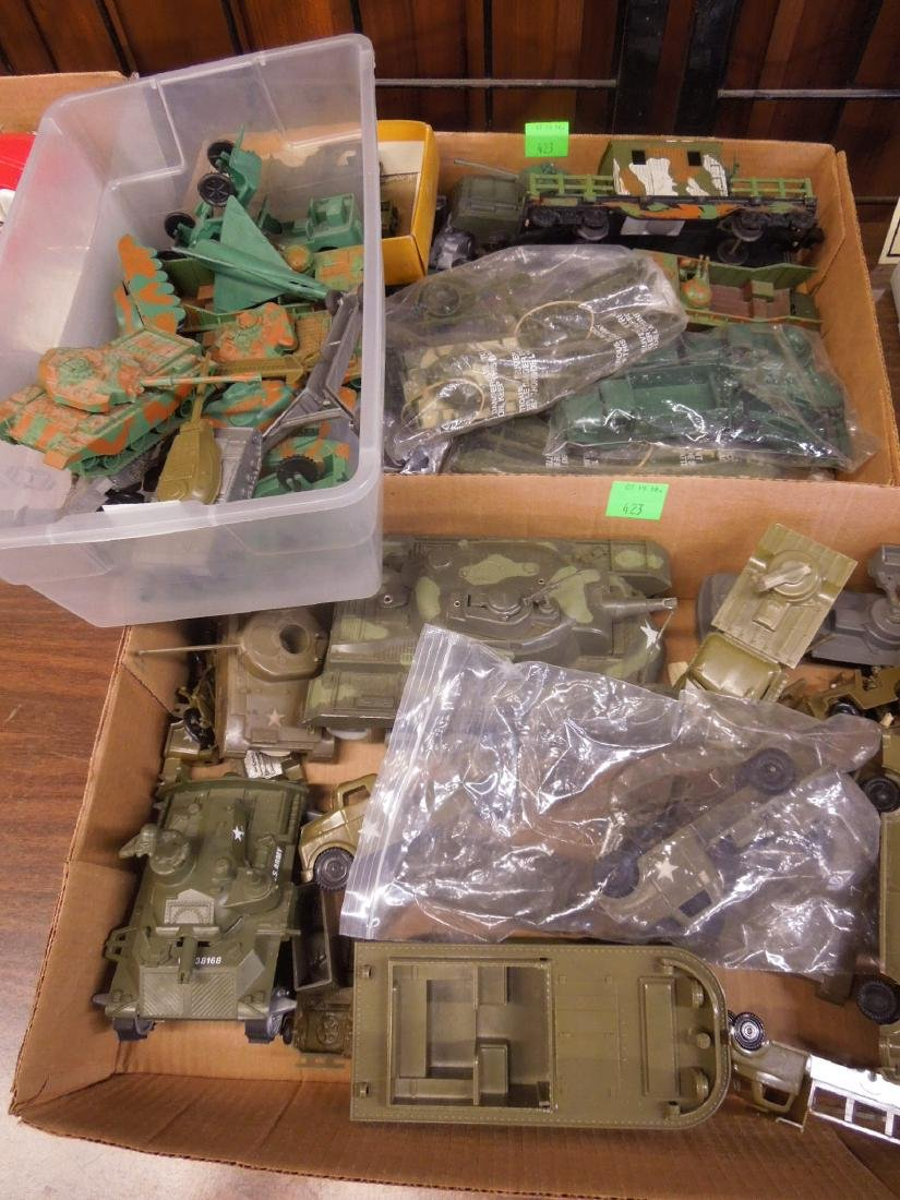 Assorted Toy Plastic Military Vehicles