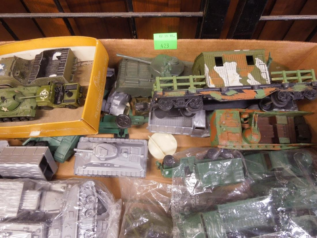 Assorted Toy Plastic Military Vehicles - 2