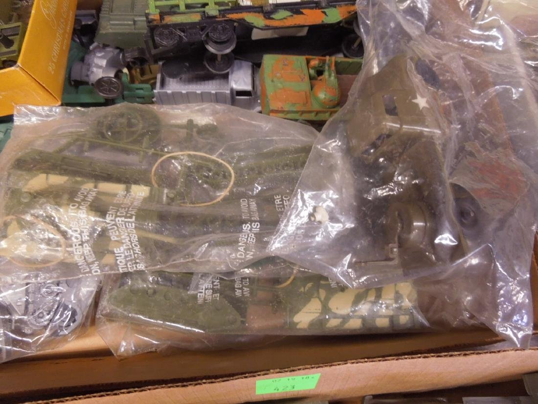 Assorted Toy Plastic Military Vehicles - 5