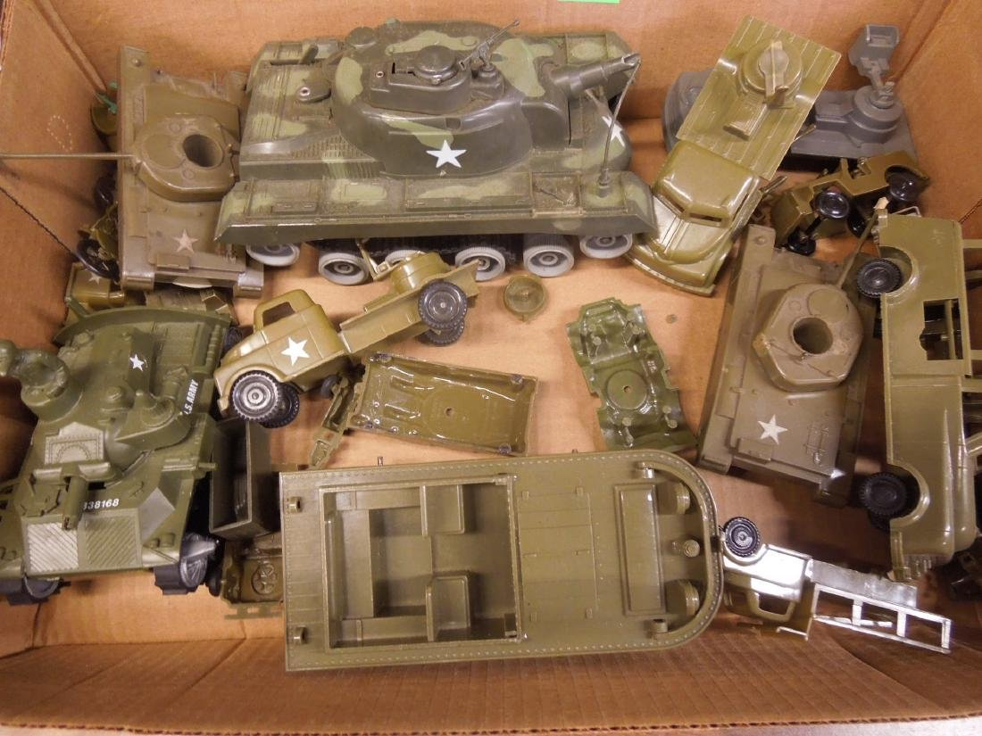 Assorted Toy Plastic Military Vehicles - 6