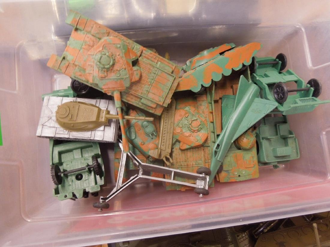 Assorted Toy Plastic Military Vehicles - 7