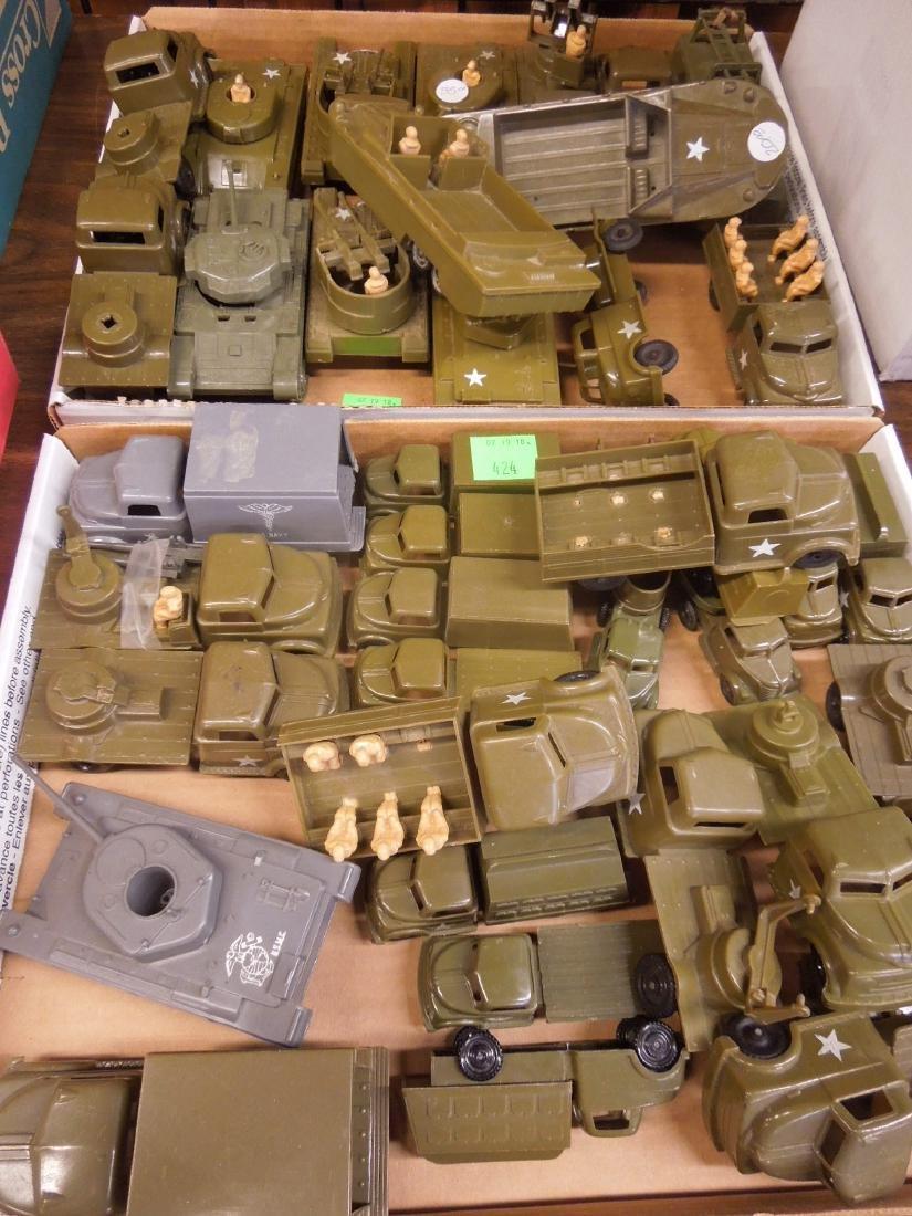 Lot Pyro Plastic Military Vehicles