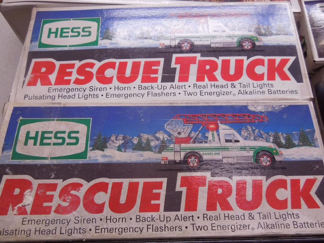 10 Hess Trucks and Fire Truck in Original Boxes - 2