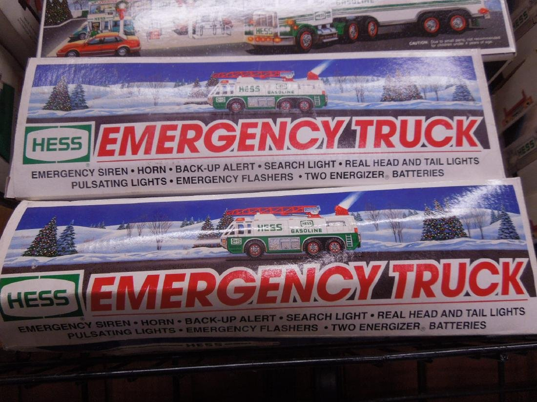 10 Hess Trucks and Fire Truck in Original Boxes - 3