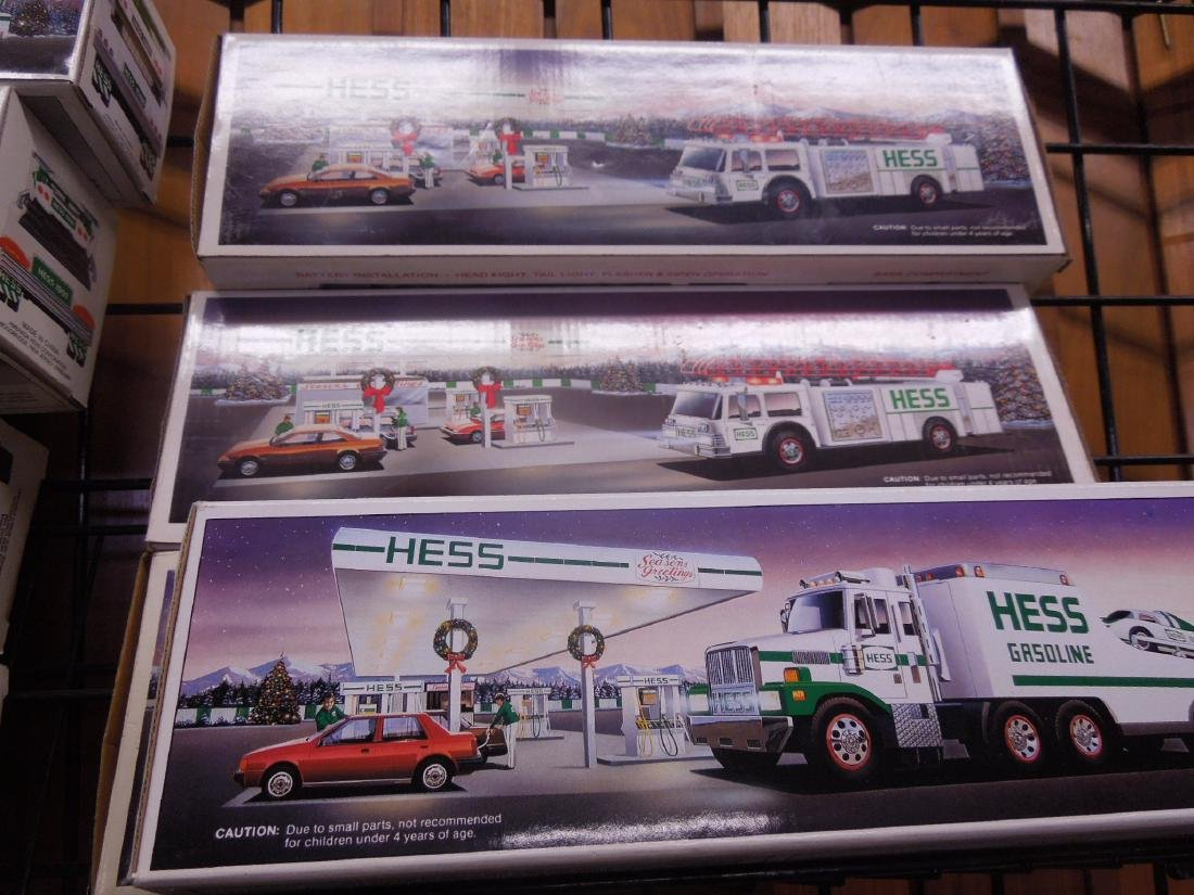 10 Hess Trucks and Fire Truck in Original Boxes - 5