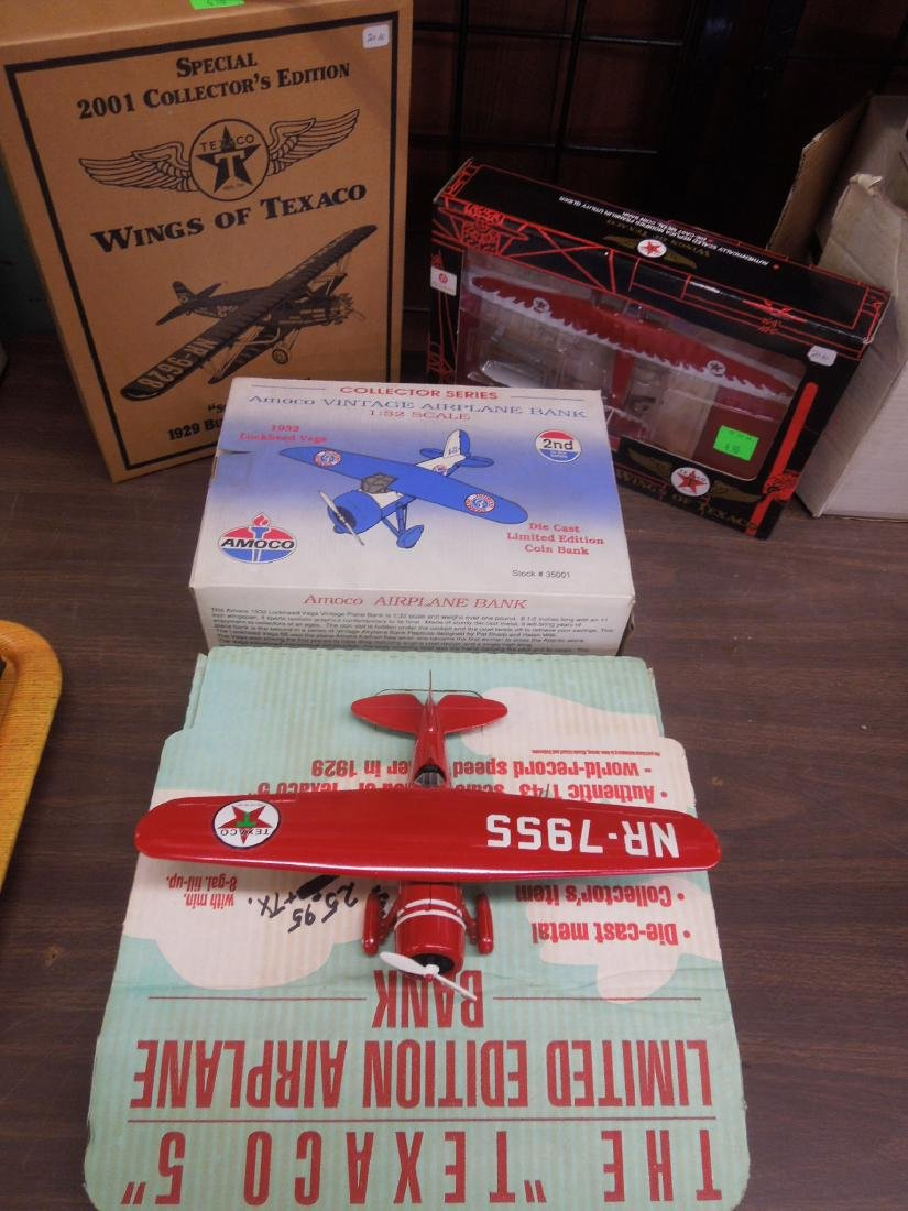 3 Die Cast Planes in Original Boxes