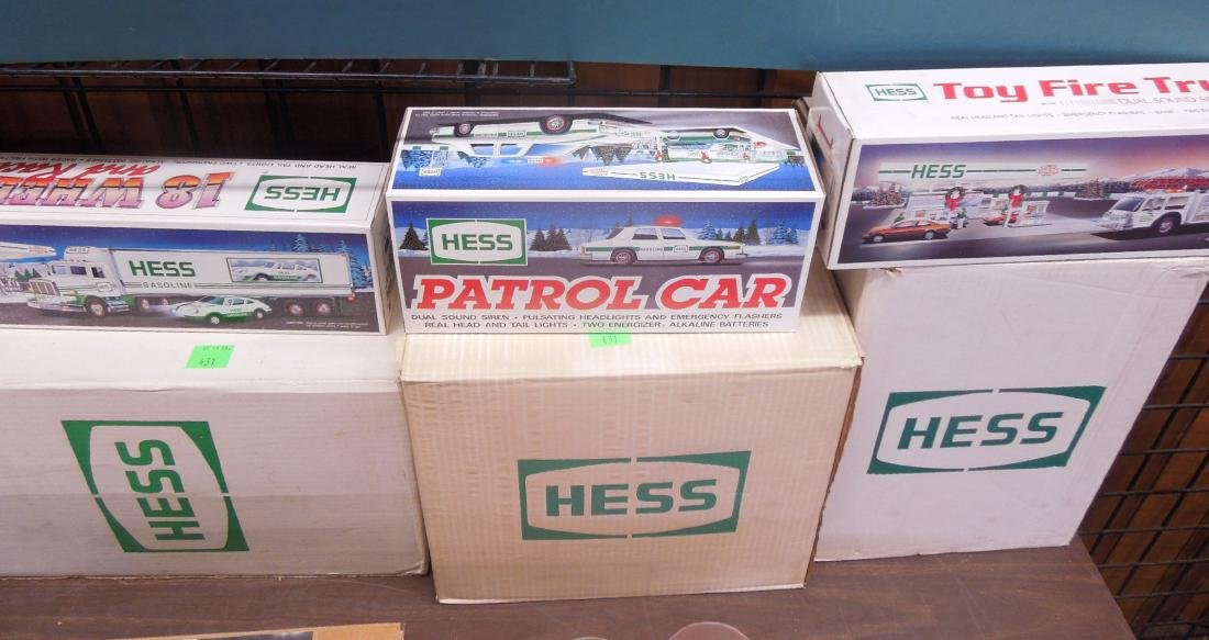 Cases of Hess Trucks in Original Boxes