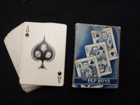 1003: 1940's Pep-Boys advertising playing cards