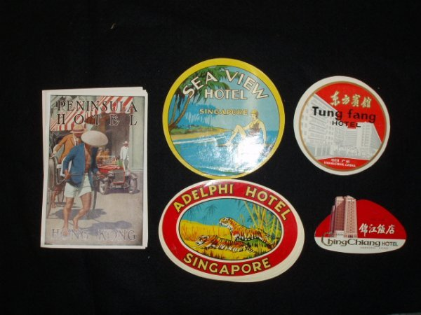 1018: 1930's-60's hotel luggage labels