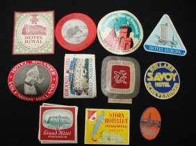 1020: 1940's-60's hotel luggage labels