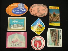1022: 1930's-60's hotel luggage labels