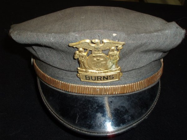 1024: 1940's security guard's hat