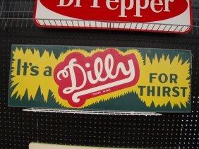 1950's Dilly Soda Tin Sign