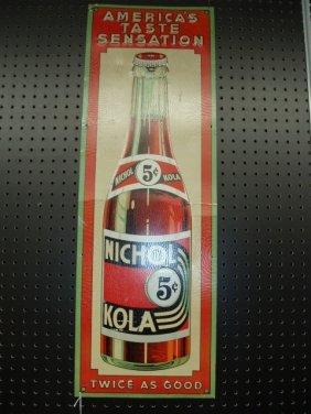 1940's Nichol Kola Tin Sign