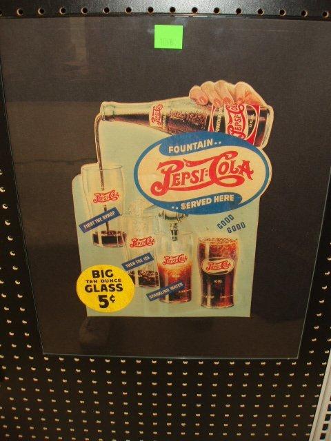 1068: 1945 Pepsi Cola cardboard sign