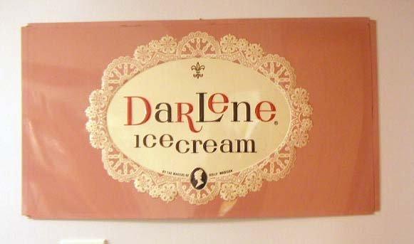 1069: 1950's Darlene Ice Cream tin sign