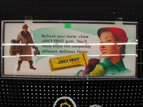 1070: 1950's Juicy Fruit Gum display sign