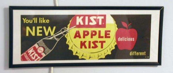 1073: 1950's Apple Kist beverage framed sign