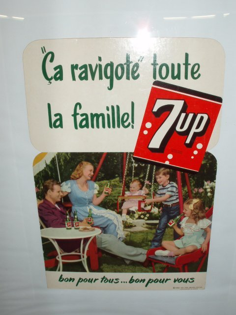 1076: 1950's French 7 UP framed ad