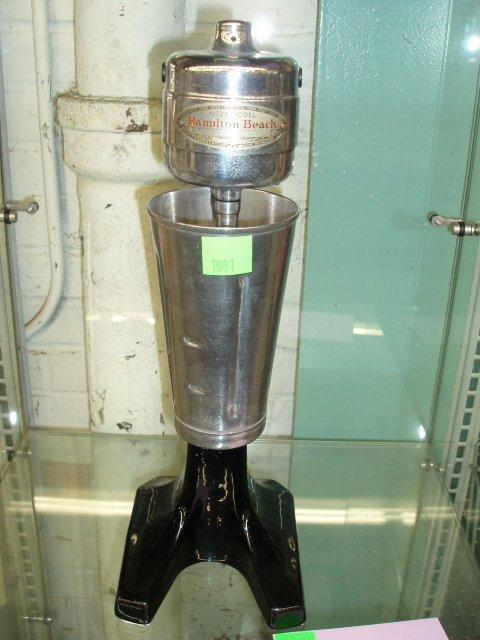 1081: 1950's Hamilton Beach milk shake machine
