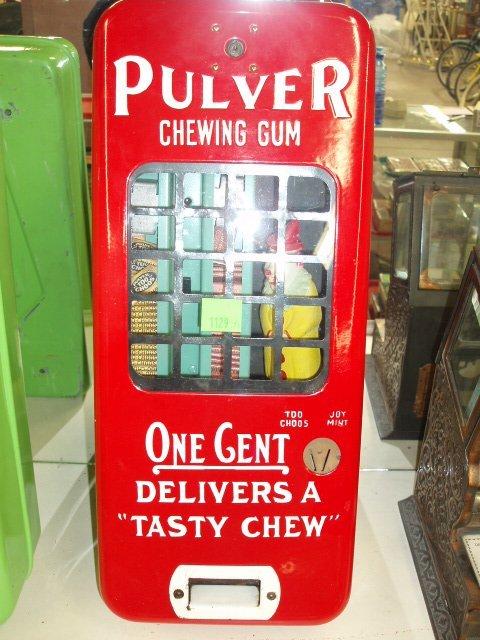 1129A: Pulver Short Case w/Clown gum machine