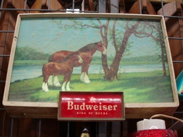1188B: 1970's Budweiser Light Up Display Sign