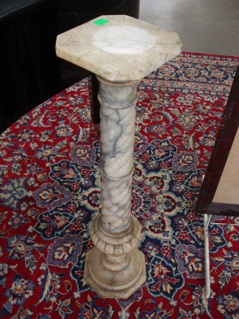 2043: White Marble Pedestal