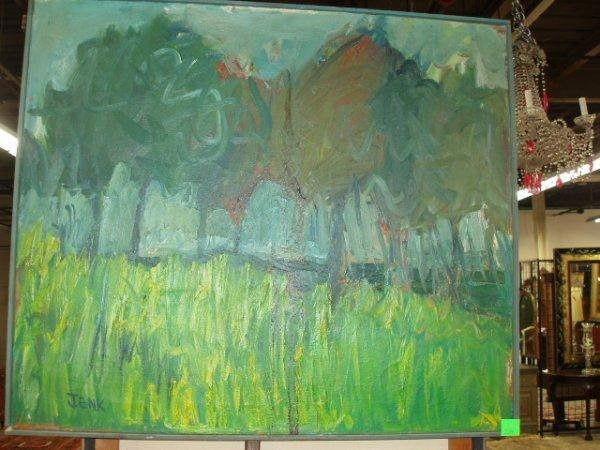 2059: [Tim] Jenk, signed acrylic on canvas