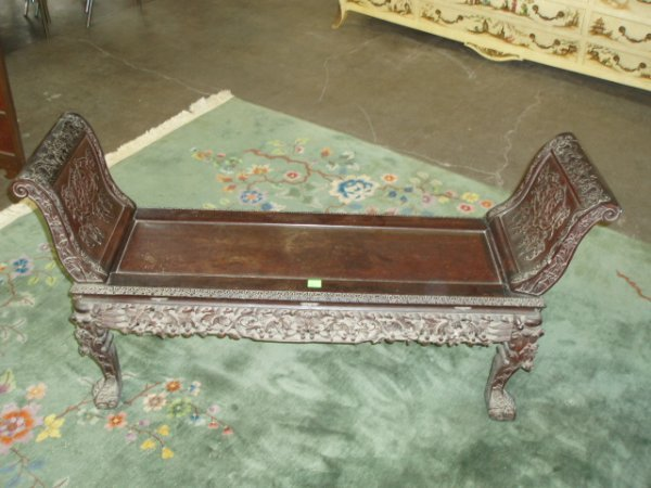 2227: Chinese Fireside Bench