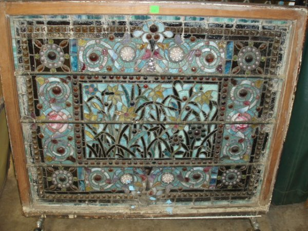 2333: Victorian Stained, Jeweled, and Leaded Glass Wind