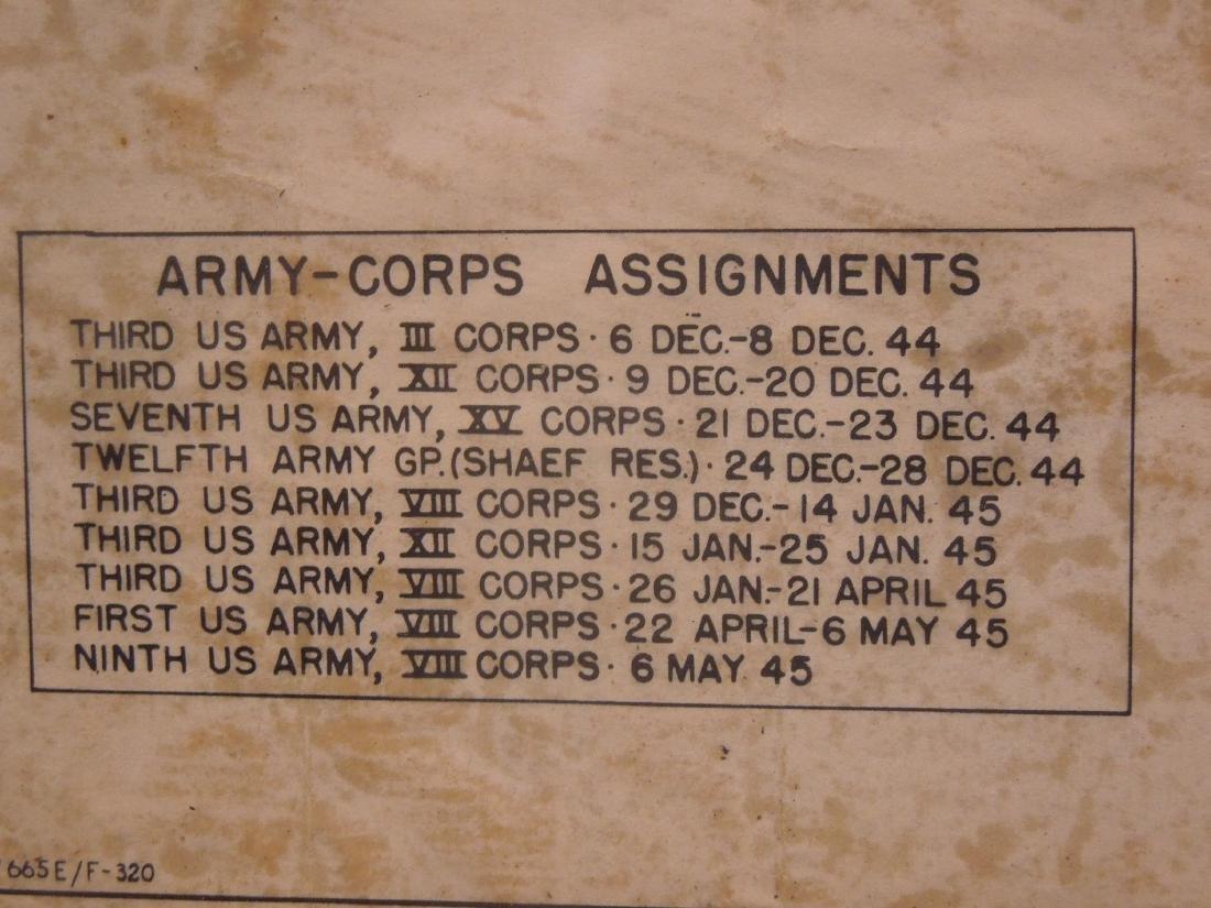 Framed WW II 87th Infantry Map - 4