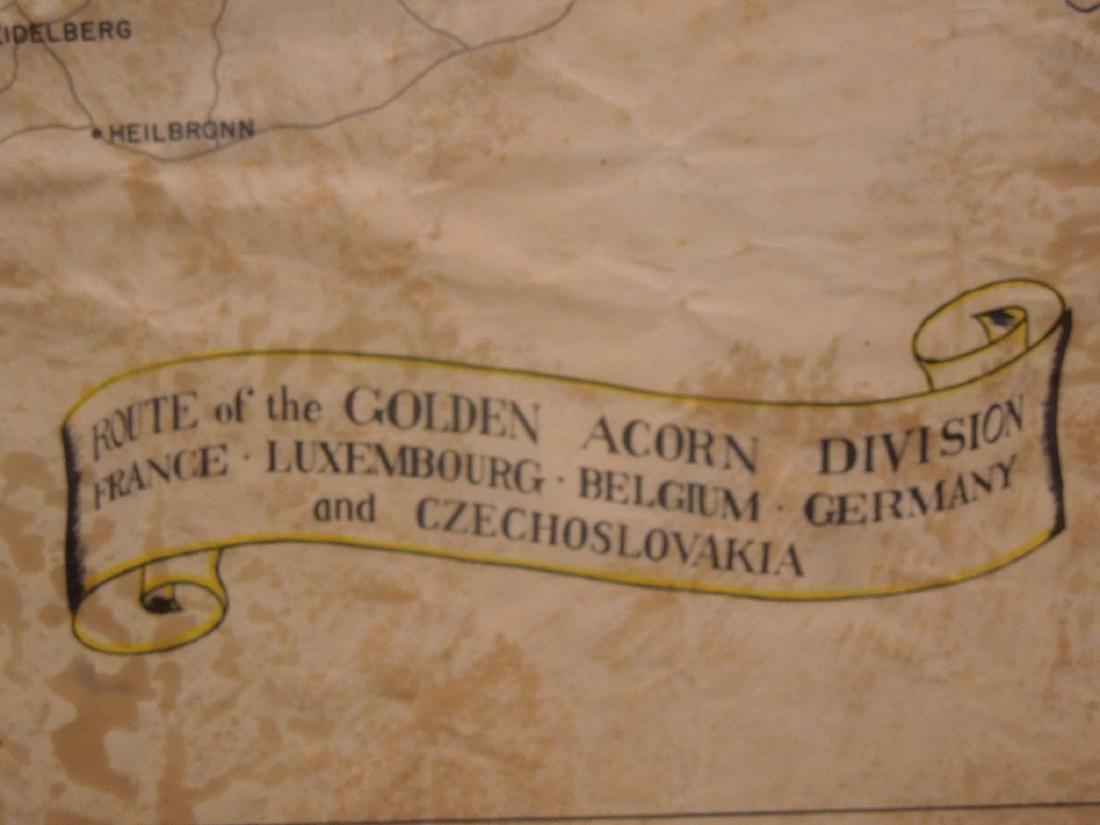 Framed WW II 87th Infantry Map - 5