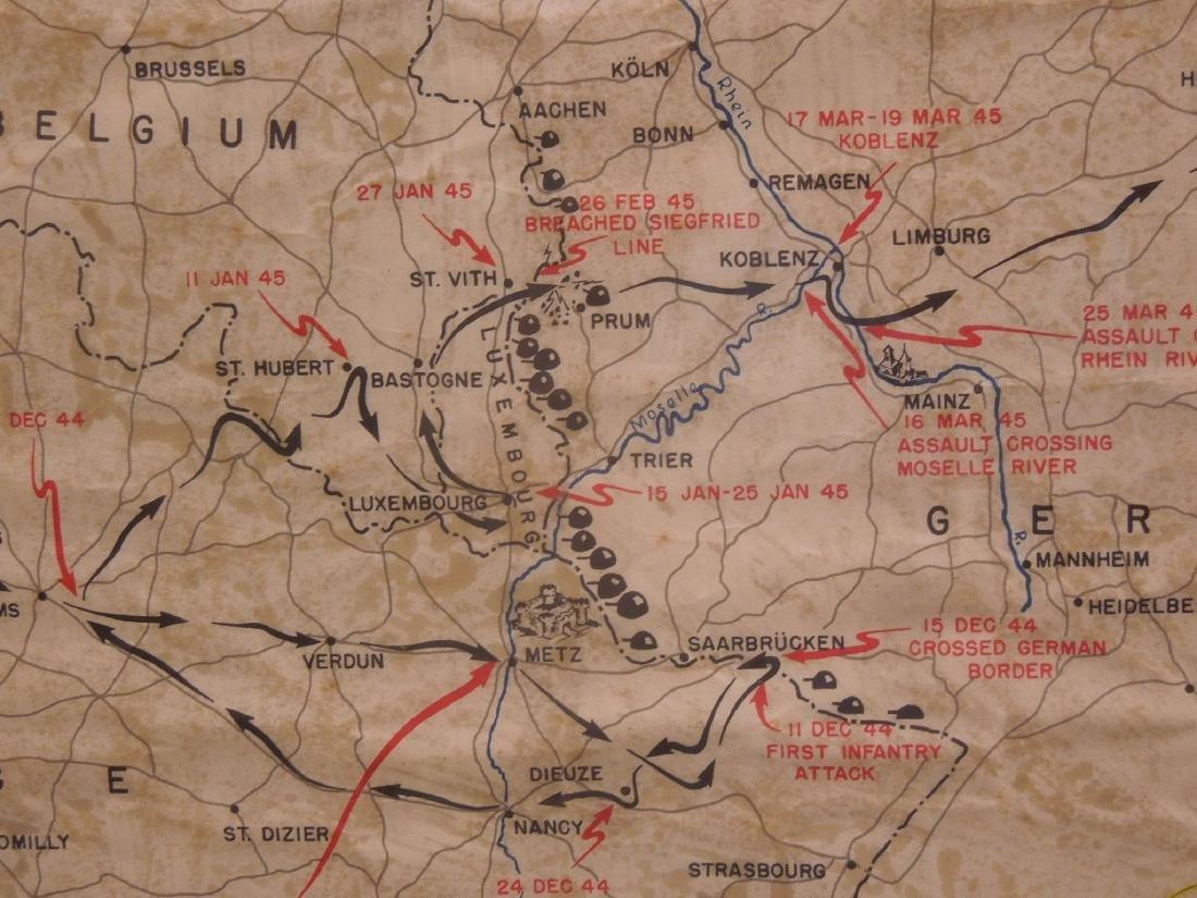 Framed WW II 87th Infantry Map - 6