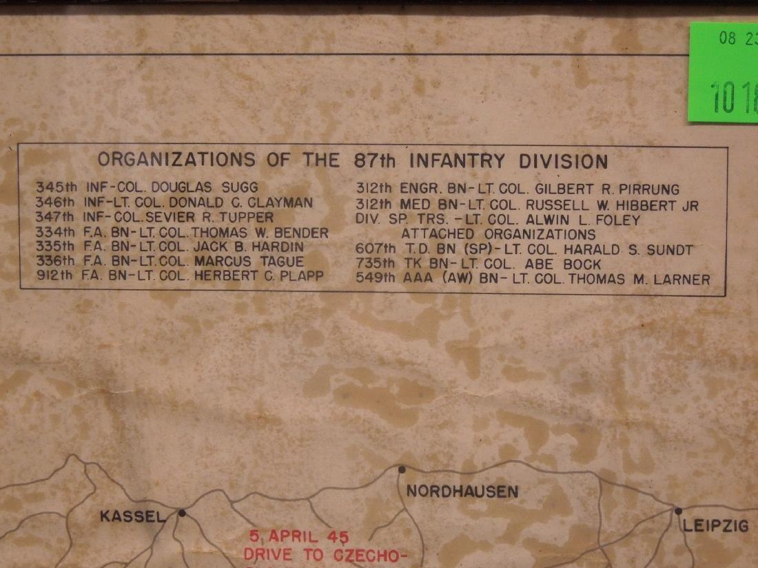 Framed WW II 87th Infantry Map - 7