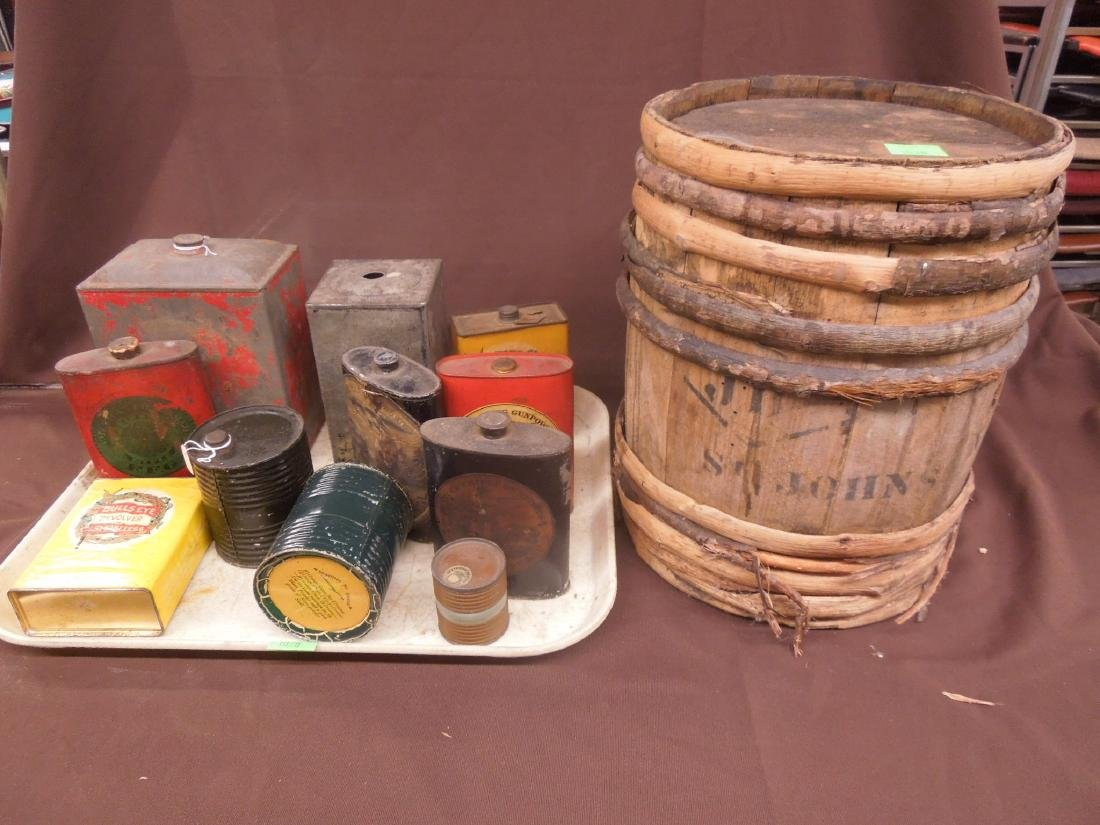 Vintage Gun Powder Tins & Keg