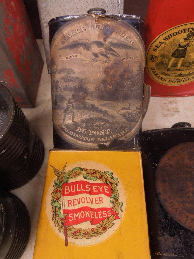 Vintage Gun Powder Tins & Keg - 2