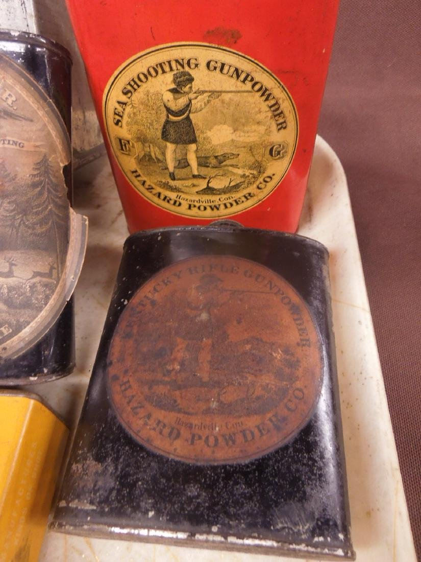 Vintage Gun Powder Tins & Keg - 3