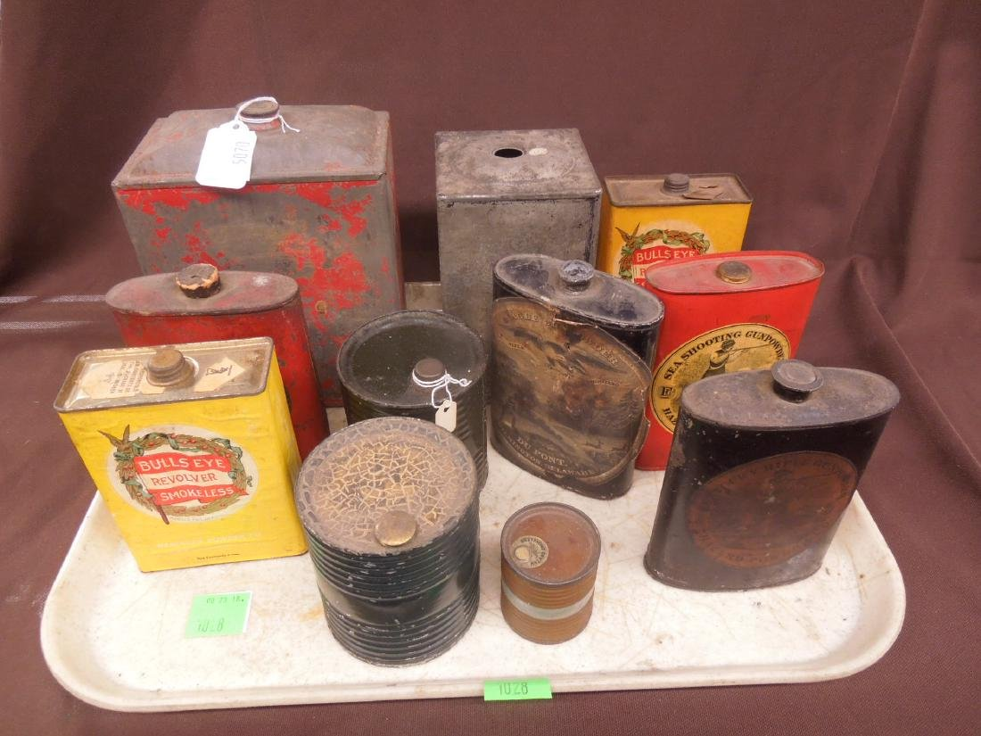 Vintage Gun Powder Tins & Keg - 4