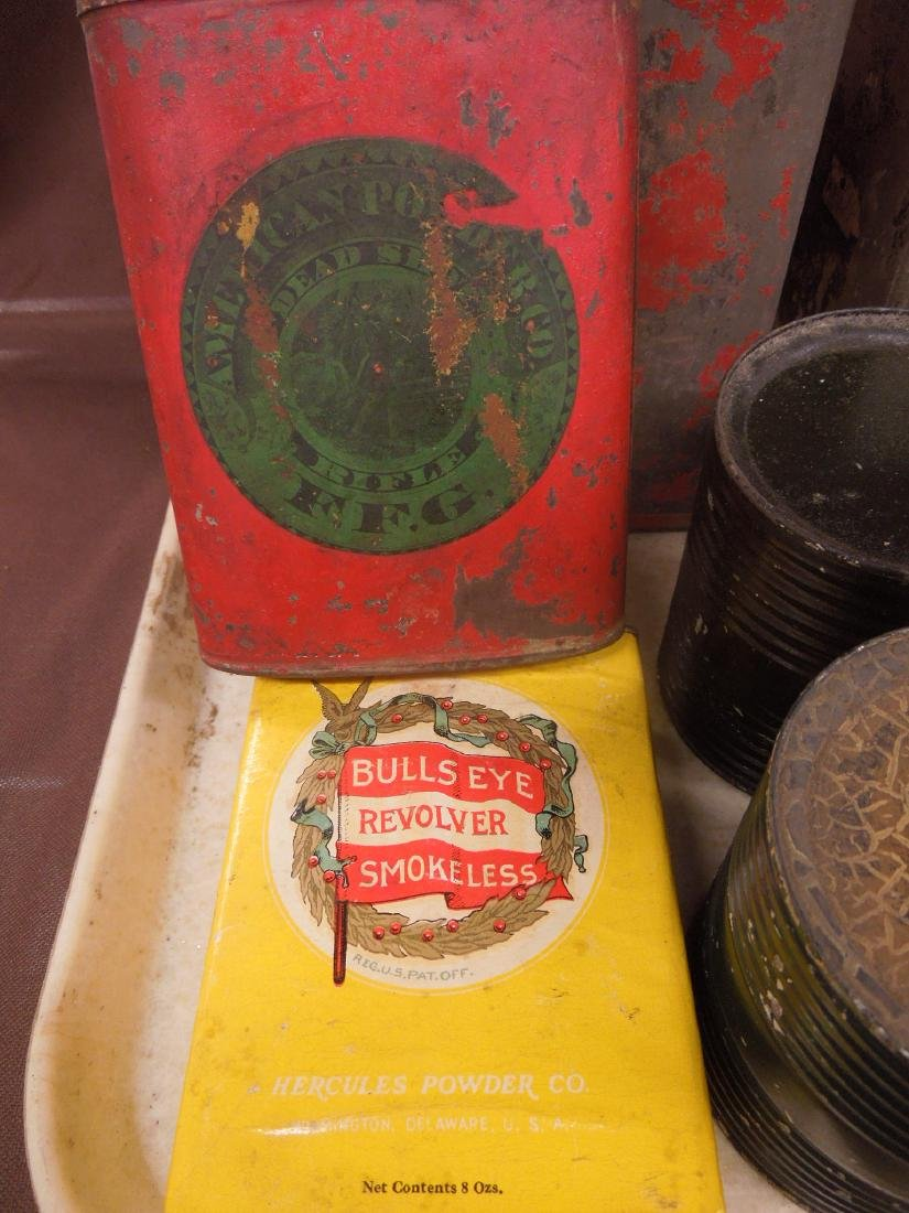 Vintage Gun Powder Tins & Keg - 5