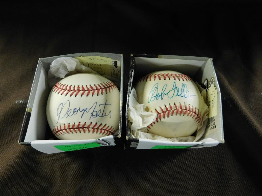 2 Autographed Baseball Ohio Team Ballplayers