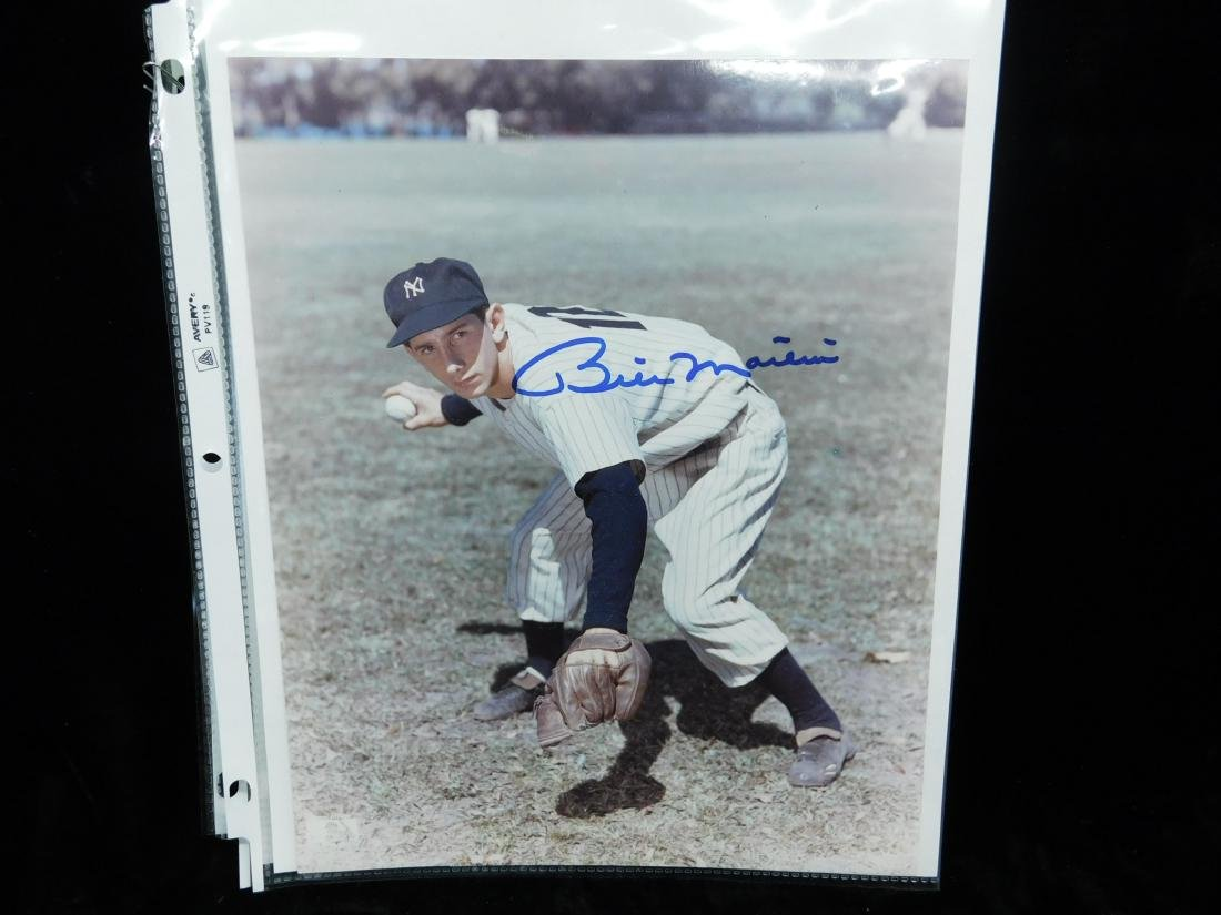 8 x 10 Autographed Color Photo Billy Martin - 2