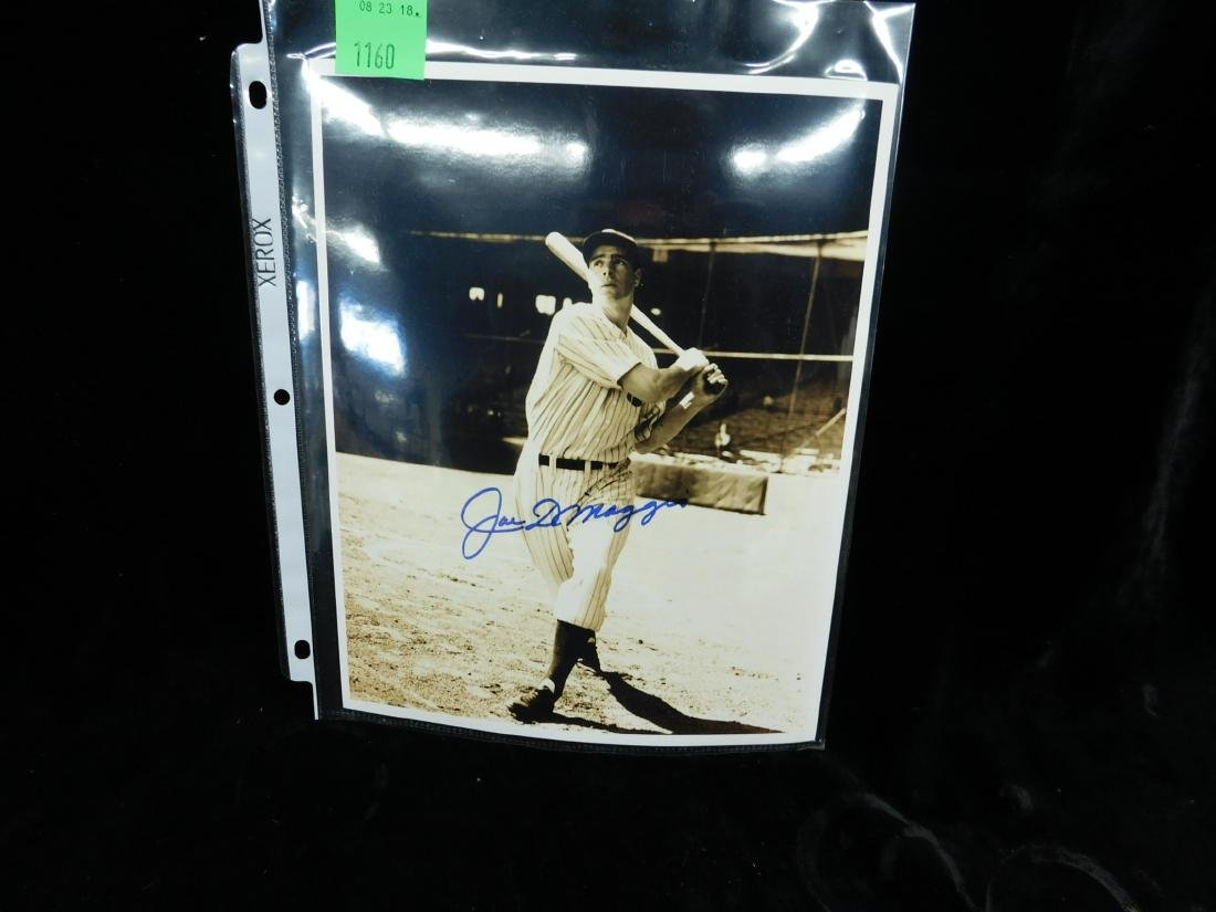 Joe DiMaggio Signed Photo