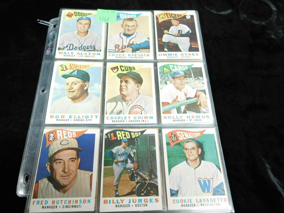 Topps Manager Cards 1960-1963